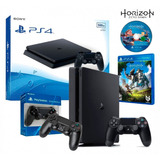 Consola Play Station 4 500gb Slim 2 Joystick + Juego Horizon