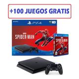Play 4 Slim Nuevos 1 Tera + Spiderman + 1 Año De  Garantia
