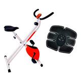 Bicicleta Fija Ergométrica Plegable + Electroestimulador