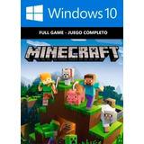 Minecraft Windows 10 Español Pc Código Original Computadora