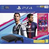 Playstation 4 Slim Ps4 Nueva 1tb + Fifa 19 Champion Gamer Pm