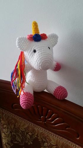 Unicornio Amigurumi Muñeco De Apego - $ 950,00 en Mercado Libre | 500x281