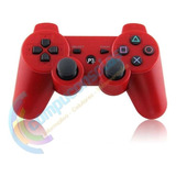 Joystick Control Mando Playstation 3 Ps3 Inalambrico Rojo