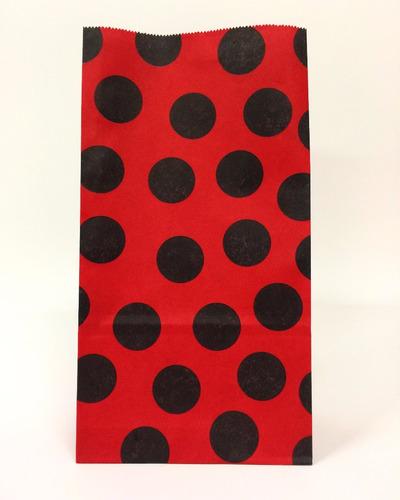 452e7f455 Bolsas Sobre Papel Regalo Rojo Lunares Negros Sorpresita