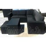 Sofa Esquinero Con Mesa Y Puff