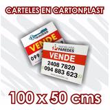Cartel Cartonplast 100x50 Cms Inmobiliaria Vende Alquila
