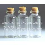 Frasco Vidrio 34ml 7cm!! Con Corcho Souvenir Esencia Aceites