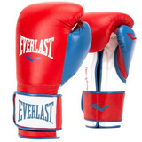Guantes Boxeo Kick Boxing Everlast Powerlock 12 14oz Rojos