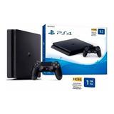 Play 4 Ps4 Slim 1tb +2controles+  Fifa 20fisico Easybuy