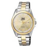 Reloj Q&q De Acero Plateado Y Dorado Para Hombre A190-400y