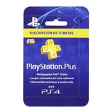 Playstation Plus 12 Meses Psn España Ps4 - Globalpingames