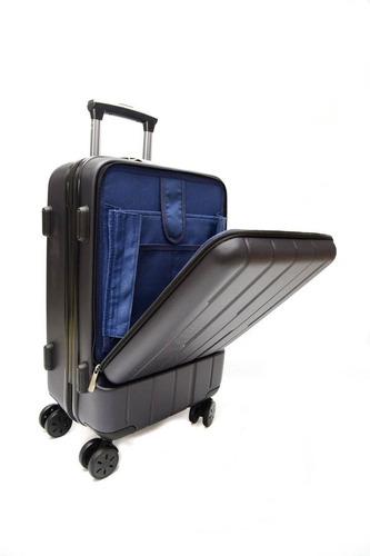 95f03e455 Valija Viaje Gris Maleta Rigida Chica Carry On Porta Laptop