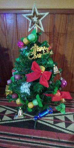 eb406784182 Mini Arbol De Navidad Con Luces Y Adornos Video Real 45cm