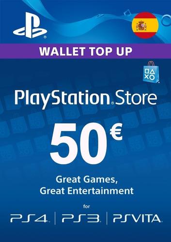 Playstation Store Tarjeta 50 Euros Código Psn Region España