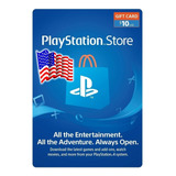 Psn Card Code 10 Dolar Playstation 4 Usa Ps4 Ps3 - Tecnoarte