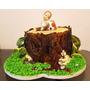 Tortas Infantiles:comunión,bautismo,estilo Rústico,arbol