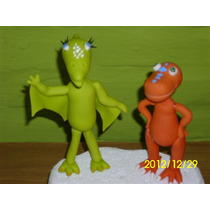 Dinosaurios En Porcelana Fría Para Decorar Tu Torta