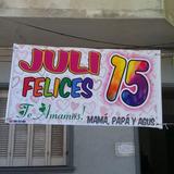 Carteles Pasacalle Egresados 15 Años Pasacalles En El Día!!