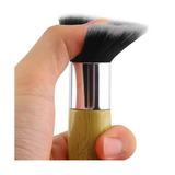 Set De 10 Brochas De Maquillaje De Bambú