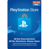 [codigo Digital] Psn Store Card Ps4/ps3/vita U$s 100