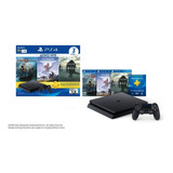 Play Station Ps4 Slim 1tb + 3 Juegos Fisicos +3 Meses Psplus