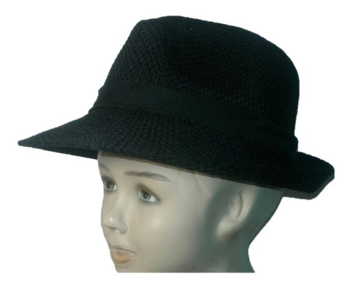 Sombrero Tanguero Niño, Tango Escolar, Negro, Beige, Blanco