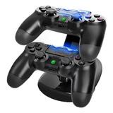 Cargador Doble Control Joystick Playstation 4 Base Carga Ps4
