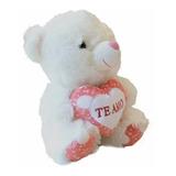Peluche De 25cm Blanco Con Corazón H906-02-3 En Oferta Loi
