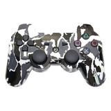 Joystick Control Playstation 3 Ps3 Inalambrico Camuflado Byn