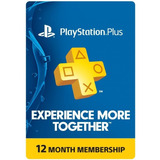 Tarjeta Playstation Psn Plus 12 Meses Usa Ps4 | Mvd Store