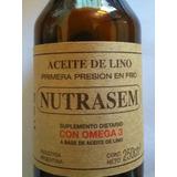 Aceite De Lino , Primera Presion En Frio, Botella Vidrio 250