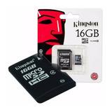 Memoria Micro Sd Kingston 16gb Celular Camara Tablet Febo