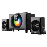 Parlantes Home Xion 2.1 Bluetooth Radio Luces Futuro21 Dimm
