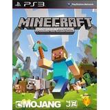 Minecraft Premium  Ps3 Original + Español + Online