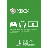 Xbox Live Gold  1 Mes Region Free Cuotas Sin Interes!!!!