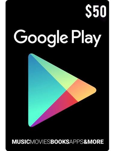 Tarjeta Google Play 50 Usd Usa | Mvd Store