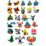 Kit 10 Pokemones Grandes 3-5cm + 1 Cartas + Mini Pokebola