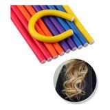 Rulero Cabello Pelo Rulos Ondas X6 Piezas 3 Colores