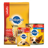 Pedigree Adulto Pollo 21 Kg + Snacks + Pate - Laika