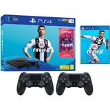 Play 4  1 Tera 2 Joystic + Fifa 19 Y Fortnite Nuevas En Caja