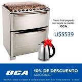 Cocina A Gas 2 Hornos Electrolux Grill Elect 76dtx Dimm #oca