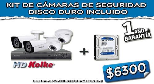 Kit Camaras De Seguridad Kolke + Disco Duro