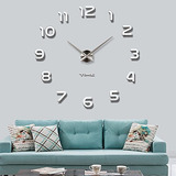 Vangold Frameless Diy Reloj De Pared 3d Mirror Wall Clock La