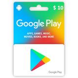 Promo-tarjeta Digital Google Play 10 Usd- Mercado Uy