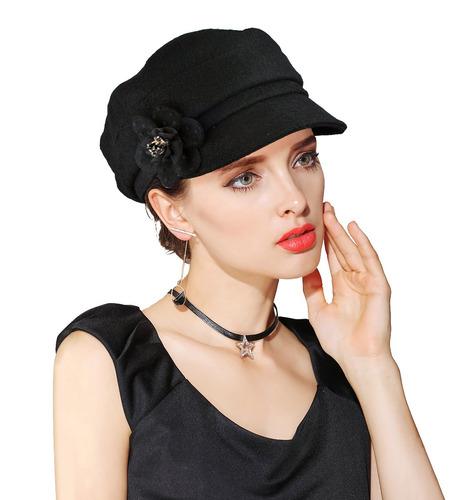 Einskey Visera Boina Para Mujer Vendedor De Periódicos Ca 4917b03b7fa