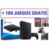 Play 4 Slim 1 Tera + De 100 Juegos Gratis + Garantia