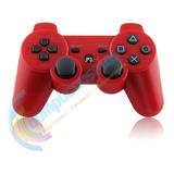 Joystick Control Mando Playstation 3 Ps3 Inalambrico Rojo