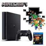 Playstation 4 Slim 1tb + Minecraft, Macrotec