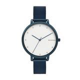Reloj Skagen Modelo Hagen Para Dama En Acero Inoxidable Azul