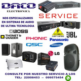 Reparacion Service Equipos De Audio, Tv ,lcd ,led,plasma